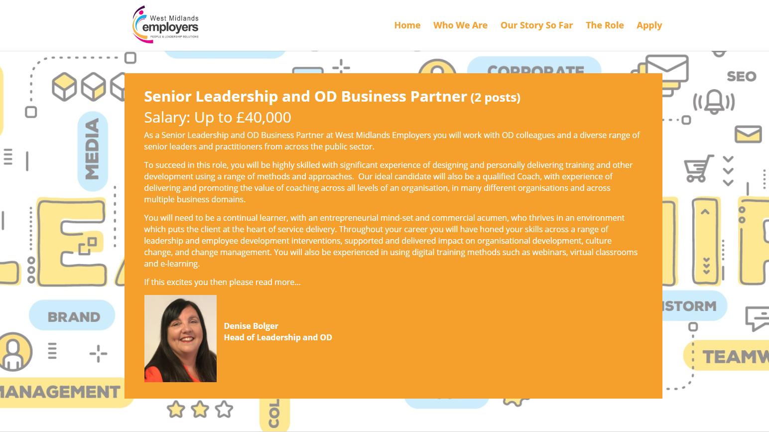 Leadership Recruitment website